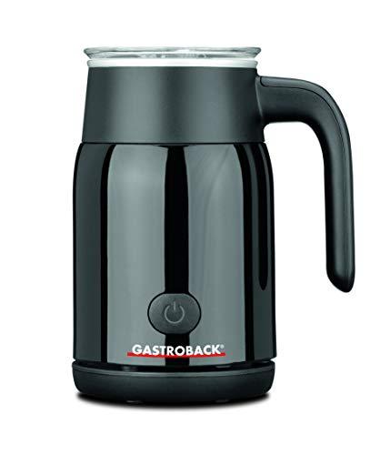 Gastroback 42326 Latte Magic, Milchaufschäumer, warmer oder kalter Milchschaum in Sekundenschnelle (max. 350 ml), erwärmen von Milch oder Kakao, 500 Watt, schwarz, Kunststoff