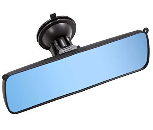 KITBEST Rückspiegel, 24,9 cm, blendfrei, Auto-Innenspiegel mit Saugnapf, blendfrei, Auto-Innenspiegel für Auto, SUV, CRV und LKW (24,9 cm L x 7,1 cm H)