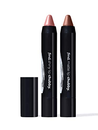 Marchio Amazon - find. Full-fab lipkit (Chubby shiny n.3 + chubby matte n.3)