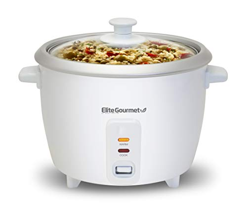 Elite Cuisine ERC-003# Electric Rice Cooker with Automatic Keep Warm White, 6 Cups Cooked (3 Cups Uncooked) Free Shipping w. Prime or on orders $25+ $17.99