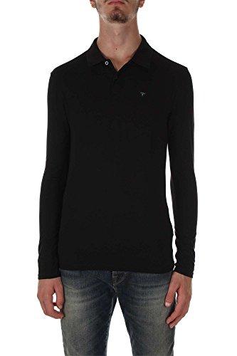 Guess Polo Manches Longues Polo Stretch Noir Couleur Noir Taille Xl