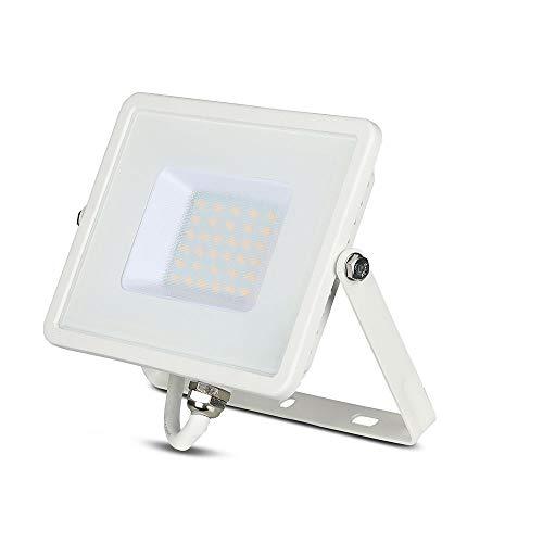 V-TAC LED Strahler, Die Cast Aluminium, 30 W, Weißes Gehäuse, 30W