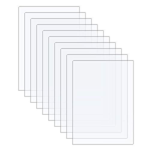 Langaelex 10 Stück 177,8 x 127 x 1,1 mm Acrylplatten Acrylglas ultra klares transparentes Plexiglas für das Ersatzglas von Fotorahmen, Projektausstellung, Malerei (5 * 7 Zoll)