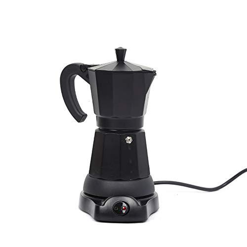 SHANGSKY Coffee Pot, Electric Coffe Maker, Stovetop Espresso Pots Plug-in Coffee Appliance Coffee Pot Espresso Machine Portable Aluminum Electric Mocha Pot