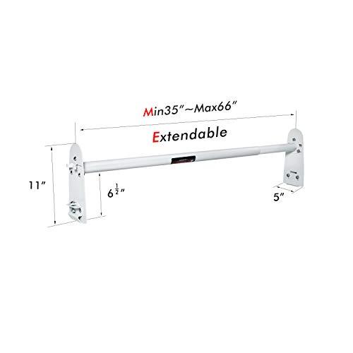 AA-Racks Model X316 Hightop 3 Bar Rain-Gutter Roof Rack Heavy-Duty Adjustable Steel High Roof Rack Matte White