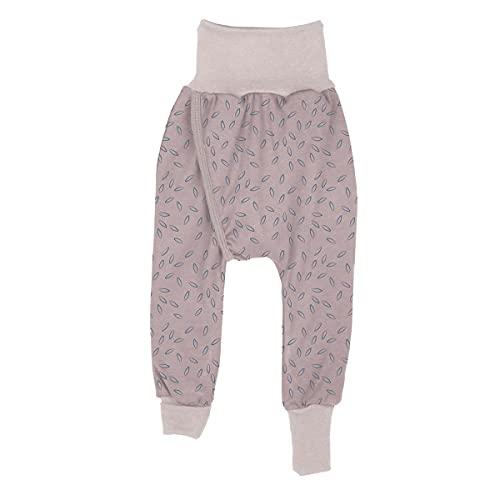 iobio Crawlers W-Free - Pantalones sin pañales de algodón orgánico Beige Leaves 74/80 cm