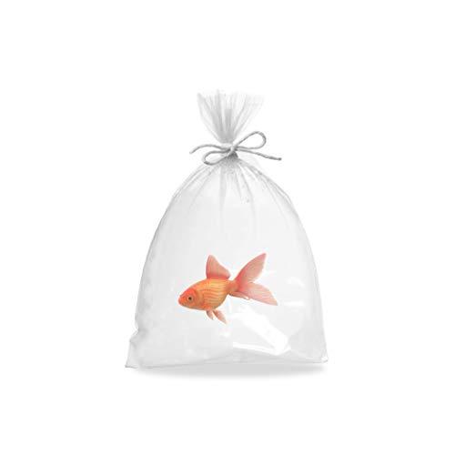 APQ Pack of 100 Plastic Fish Bags 6 x 12. Clear Polyethylene Bags 6x12....