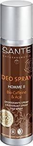 SANTE - Déo Spray Homme II à la Caféine Bio & Acaï - Pour une fraîcheur fiable et durable - Formule douce - Légères notes d'agrumes - N'irrite pas la peau - 100 ml