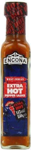 Encona Extra Hot West Indian Hot Pepper Sauce 142 ml (pack of 6)