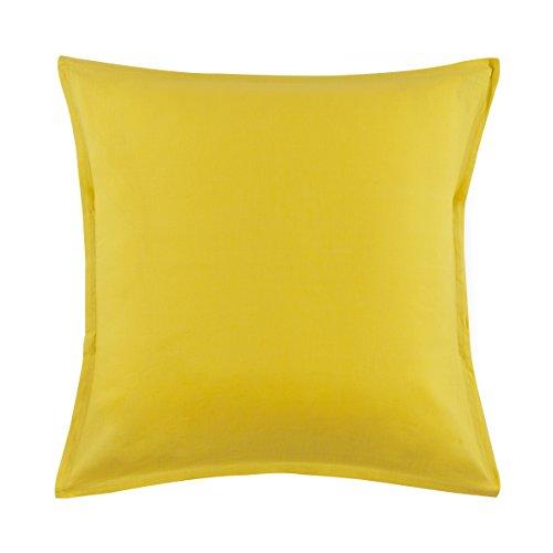 Essix - Taie d'oreiller Cottage Lin Bouton d'or 65 x 65 cm