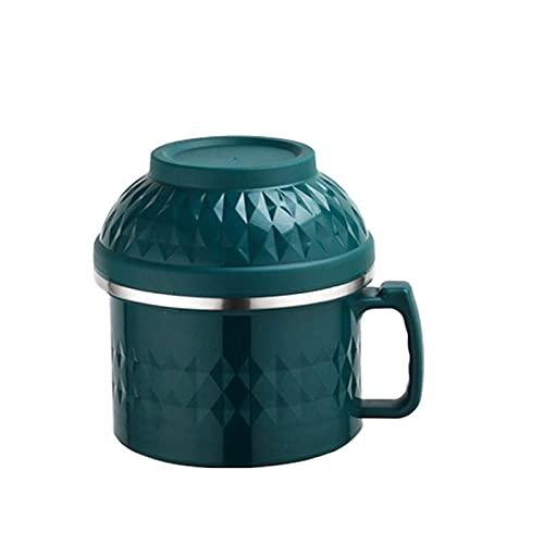 WSYGHP Fiambrera Ramen con tapa y asa, 2 unidades, para niños y adultos, mezcla de 1 bento (color: verde, tamaño: 1 unidad)