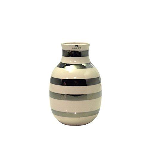 [ケーラー] Kahler オマジオ フラワーベース 花瓶 スモール Omaggio H125 silver 15211 [並行輸入品]
