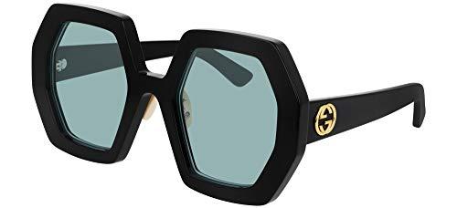 Gucci Occhiali da Sole GG0772S Black/Blue 55/26/145 donna