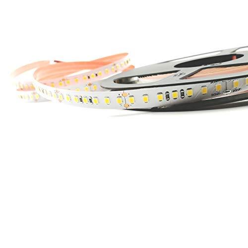 Pianeta-led - Mod. Premium - Ruban 600 LED 2835 SMD - Lumière naturelle - 24 V - Avec adhésif double-face 3M - Blanc - 5 m -