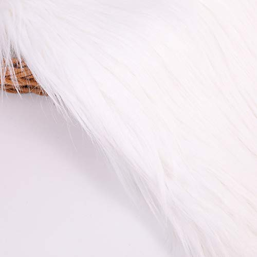 Tela de pelo sintético largo, de lujo, suave, material de costura