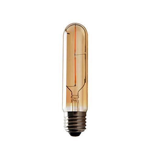 Tree-es-Life 2W T10 E27 Bombilla LED de luz LED Retro Cubierta ámbar Transparente 220V Filamento LED Lámpara de Vidrio Vintage Antigua Luz sintonizable Ámbar