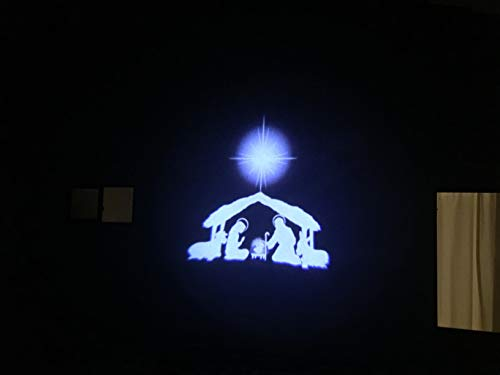 Nativity Light Christian Themed Water-Resistant Indoor Outdoor Projector for Christmas Outdoor Lighting