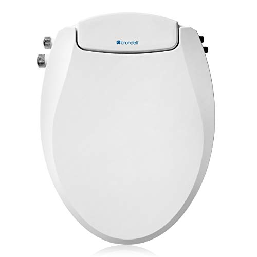 Brondell Swash Ecoseat Non-Electric Bidet Toilet Seat, Fits Elongated Toilets, White - Dual Temperature, Dual Nozzle System - Bidet with Easy Installation