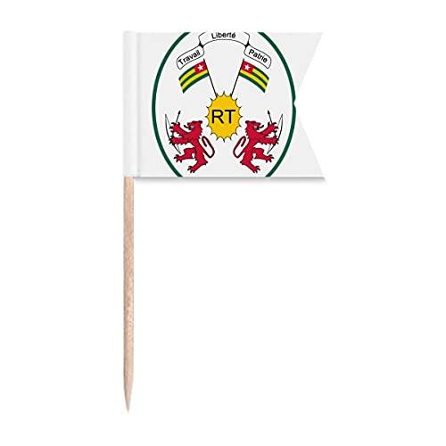 Togo Afrika Nationalemblem Zahnstocher Flaggen Kennzeichnung für Party Kuchen Lebensmittel Käseplatte