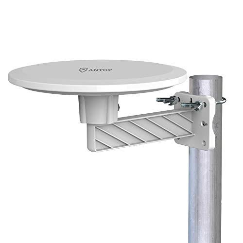 ANTOP 地デジアンテナ テレビアンテナ 地上デジタルアンテナ HD UHF TVアンテナ UFO形アンテナ 室外 屋外 地上波 ブースターアンテナ 4GLTEフィルター内蔵 防水 抗UV 耐候性 屋根 屋根裏 取付簡単 AT-JP418B