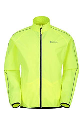 Mountain Warehouse Force Wasserabweisende Laufjacke für Herren - Unisex-Regenjacke, Regenmantel mit Mesh-Einsätzen - zum Laufen, Radfahren Gelb Large