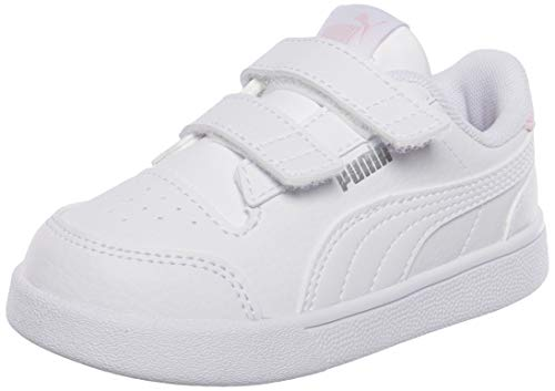Puma Shuffle V INF, Zapatillas Unisex Bebé, White White/Pink Lady, 23 EU