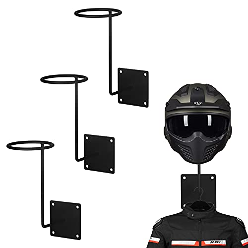 ILM 3 Pack Motorcycle Accessories Helmet Stand Holder Hanger Rack Jacket Hook