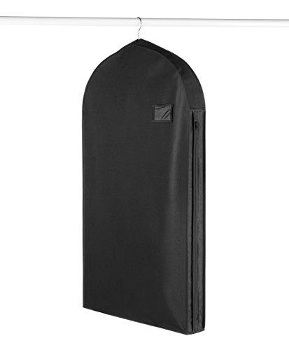 Whitmor Deluxe Zippered Suit Bag, Black