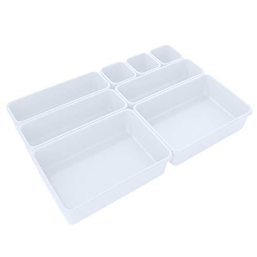 8 plastlådor organiseringslådor stapelbar bricka avdelare garderob mångsidig förvaring smink garderob separator lätt att rengöra (02)