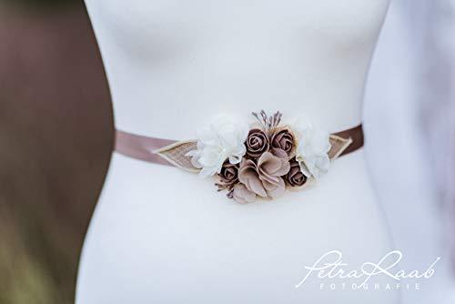 G67 Brautgürtel, Gürtel,Brautkleid, Hochzeitskleid, bridal belts, wedding dress,Pfingstrosen, Röschen Gürtel,Schwanger und Hochzeit
