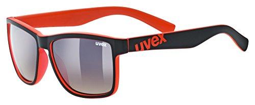 uvex Unisex– Erwachsene, lgl 39 Sonnenbrille, black mat red/brown dégradé, one size