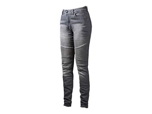 John Doe Betty Biker Jeans Light Grey XTM | Motorradhose mit Kevlar | XTM Made with Dupont Kevlar | Einsetzbare Protektoren | Atmungsaktiv | Motorrad Jeans | Denim Jeans mit Stretch