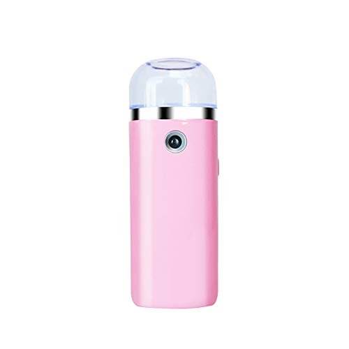 Nano Spray pour le visage, vapeur Brume froide Nettoyage Pores Hydratant Eau Hydratant Visage Pulvérisateur Rechargeable USB Mini Appareil Beauté Rose