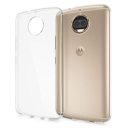 NALIA Funda Carcasa Compatible con Motorola Moto G5S Plus, Protectora Movil Silicona Ultra-Fina Gel Cubierta Estuche, Goma Telefono Bumper Cover Cobertura Delgado Case Cristal Clear - Transparente