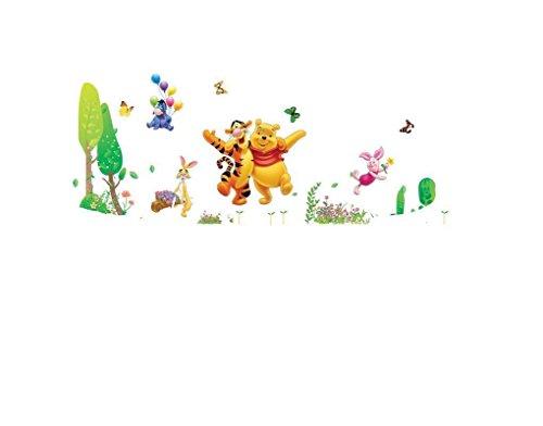 Wandtattoo Wandaufkleber Wandsticker Winnie Puuh Pooh Tiger Ferkel Rabbit Eule Wohnzimmer Kinderzimmer 80 x 120 W004 Viwaro