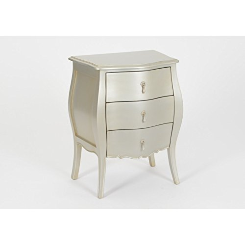 Amadeus Mini Commode 3 tiroirs Murano Argent Silver
