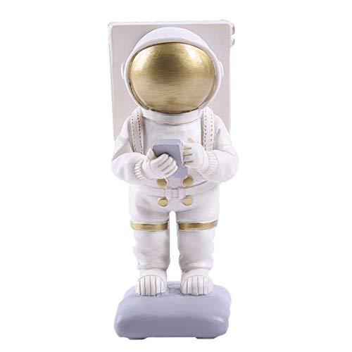 Kesio Soporte de teléfono para escritorio, astronauta creativo, compatible con iPhone 12 11 Pro Max, mesita de noche, oficina, accesorios de escritorio (dorado)