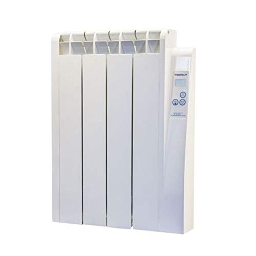 farho Radiador Electrico Bajo Consumo 500 W Eco-X /·/·/· Radiador Electrico Programable 7 d/ías // 24 HR /· Emisor T/érmico Fluido Digital /·/·/· Calefacci/ón El/éctrica con 20 A/ÑOS
