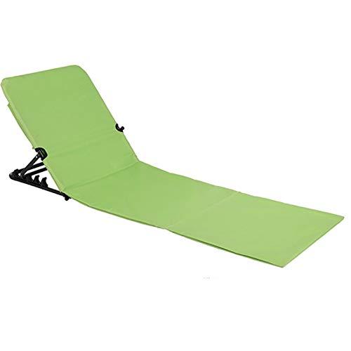 JEMIDI Strandliege Strandmatte Schwimmbadmatte mit Rückenlehne und Transporttasche Super leicht!!! Schwimmbad Decke Matte Laken Liege Strandliege tragbare (Grün)