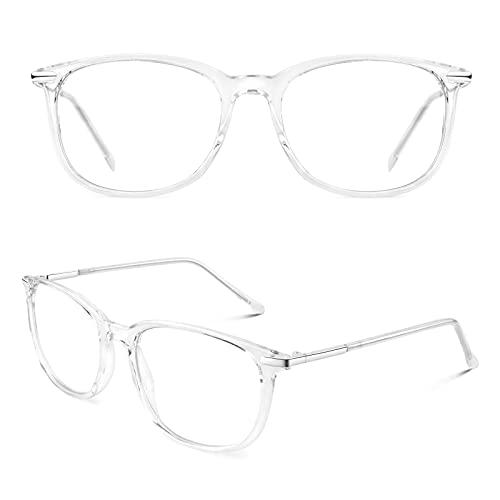 CGID CN79 Klassische Nerdbrille ellipse 40er 50er Jahre Pantobrille Vintage Look clear lens Transparent