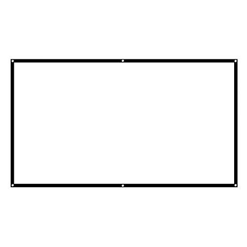 ASHATA Beamer doek, 16: 9 HD 60-100 inch 16:9 HD 4K thuisbioscoop, eenvoudig opvouwbaar projectiedoek, draagbaar roldoek, projectiescherm voor presentaties business outdoor-film enz, 100 inch.