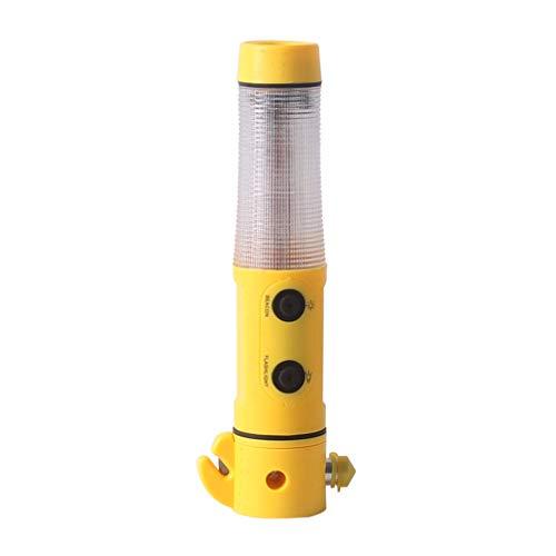 FAEIO 5-in-1-Multifunktion 19 cm lang, ca. 3,3 cm im Durchmesser Fenster Nothammer - Antiblockiersystem - Mit verstecktem Cutter Notfallhammer Auto Rettungshammer - für Auto, Bus, PKW, LKW