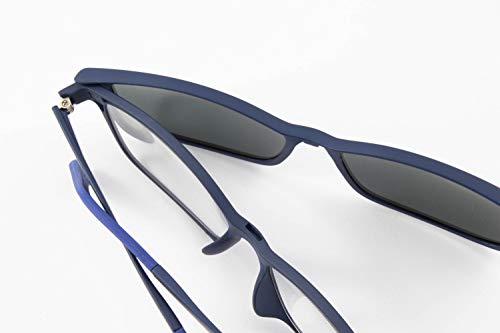 LIANDU 1 Paar 2-in-1-Lesebrillen Sind auch Sonnenbrillen Spring Hinge-Lesebrillen Sonnenbrillen Unisex Hochwertige Polaroidlinsen Modell TR2in1(Blau)+2.5