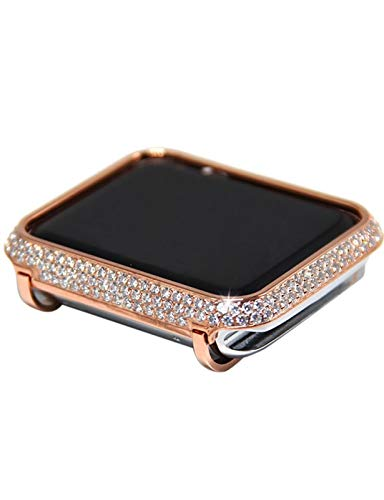 NVFED Caso di Diamanti + Cinturino in Acciaio Inox per Apple Watch Series 6 SE 5 4 3 Band Cover per Iwatch 38mm 42mm 40   44mm Braccialetto da Donna con Cinturino da Donna