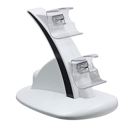 Opplei draagbare controller oplader, wit/zwarte rand voor Xboxone-greep, opladen met twee zitplaatsen, snellaadstation voor Xbox One-Controller