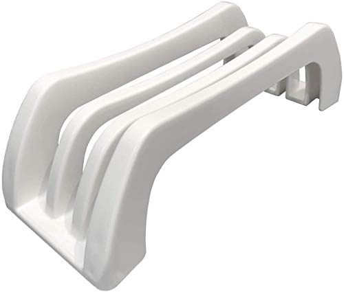 Carrotez Index Plastic Cutting Board Holder, Cutting Board Organizer Stand Holder, Cutting Board Organizer Rack Storage, Baking Sheet, Bakeware, Cookie Sheet Organizer 0.6 Inch Width Slots - White