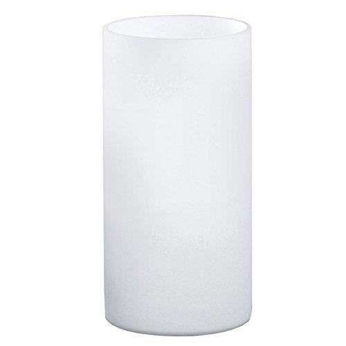 EGLO tafellamp, glas, E14, wit/opaal-mat