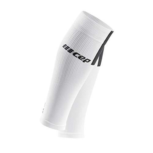 CEP – Calf Sleeves 3.0 für Damen | Beinstulpen für exakte Wadenkompression in weiß/grau | Größe III