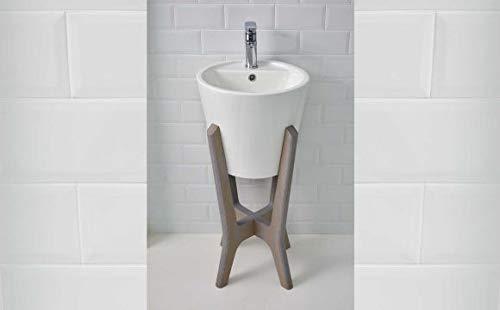 Bathco Pedestal DE Madera Compatible con Lavabo Florencia B