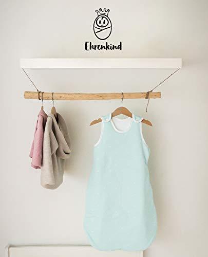 Ehrenkind® Babyschlafsack Rund | Bio-Baumwolle | Ganzjahres Schlafsack Baby Gr. 50/56 Farbe Mint mit weißen Sternen - 5
